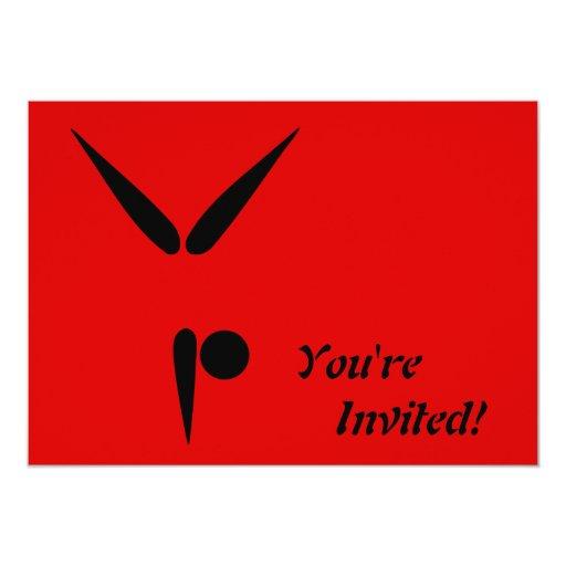 """Símbolo simple de la gimnasia del gimnasta del invitación 5"""" x 7"""""""
