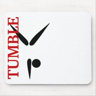 Símbolo simple de la gimnasia del gimnasta del vas alfombrilla de ratones