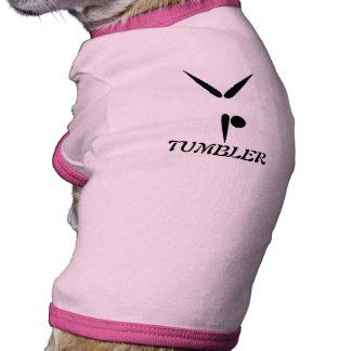 Símbolo simple de la gimnasia del gimnasta del vas camisetas de perro