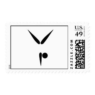 Símbolo simple de la gimnasia del gimnasta del vas
