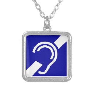 Símbolo sordo colgante cuadrado