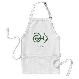 Símbolo sospechoso verde de SymTell Delantal