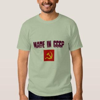 símbolo soviético, hecho en CCCP Playeras
