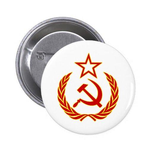 Símbolo soviético pin redondo de 2 pulgadas