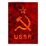 Símbolo soviético tarjetas