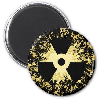 Símbolo Splat de la radiación Imán Redondo 5 Cm