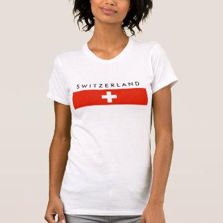 Símbolo suizo de la nación de la bandera de país camisas