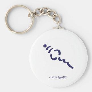 Símbolo superficial púrpura de SymTell Llavero Redondo Tipo Pin