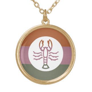 Símbolo Tem de oro elegante del escorpión de la Colgante Redondo