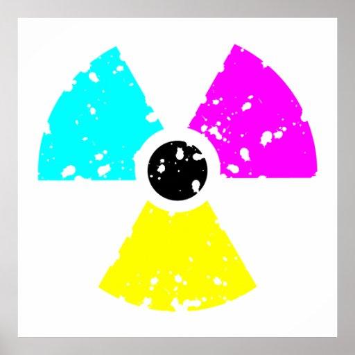 símbolo tóxico apenado CMYK Posters