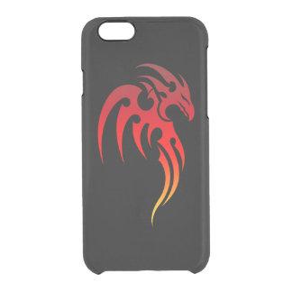 Símbolo tribal de levantamiento de Phoenix Funda Clearly™ Deflector Para iPhone 6 De Uncommon