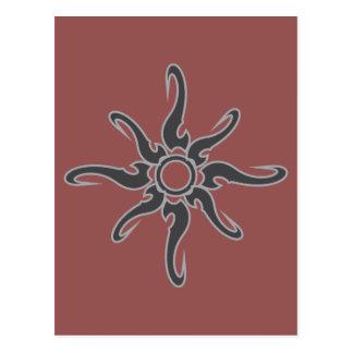 Símbolo tribal del Glyph del punto de Sun Postales