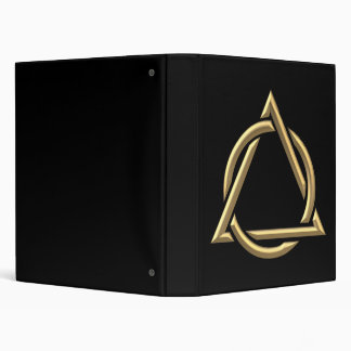 "Símbolo ""tridimensional"" de oro de la trinidad san carpeta 1"""