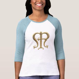 """Símbolo """"tridimensional"""" de oro del Virgen María Camisetas"""