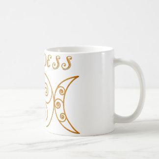 Símbolo triple de la diosa de Swirly Tazas De Café
