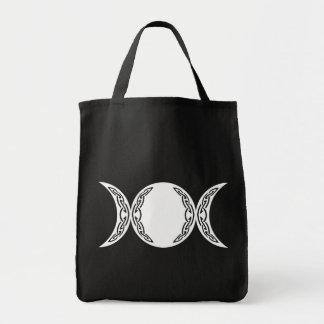 Símbolo triple de la luna de la diosa bolsa tela para la compra