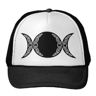 Símbolo triple de la luna de la diosa gorras