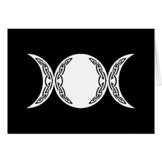 Símbolo triple de la luna de la diosa felicitaciones