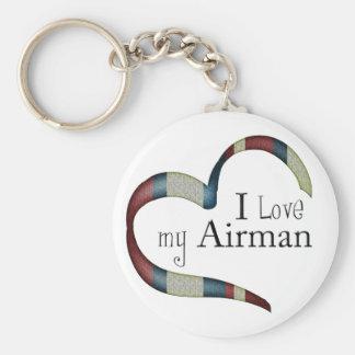 Símbolo único: Amo mi llavero del aviador