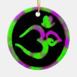 Símbolo único de OM - ornamento de Navidad de la