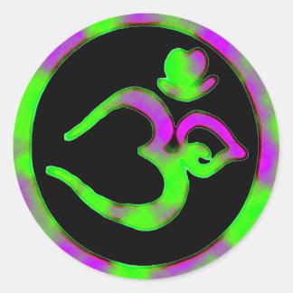 Símbolo único de OM - pegatina de la yoga