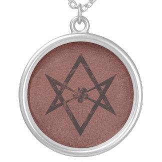 Símbolo Unicursal de Thelemic del Hexagram en el c Colgante Redondo