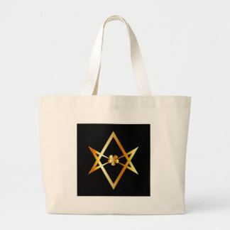 Símbolo Unicursal del hexagram Bolsa De Tela Grande