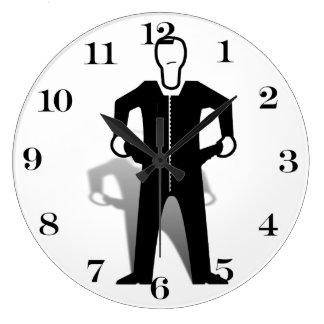Símbolo vacío de los bolsillos relojes de pared