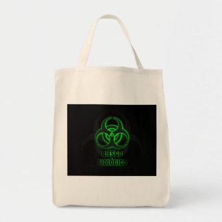 Símbolo Verde Brillante de Riesgo Biológico Tote Bag