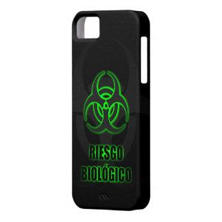 Símbolo Verde Brillante de Riesgo Biológico iPhone 5 Cobertura