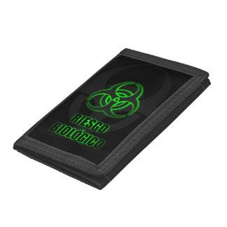 Símbolo Verde Brillante de Riesgo Biológico Wallet