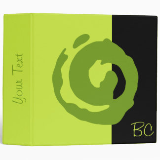 Símbolo verde de Koru en verde lima y negro