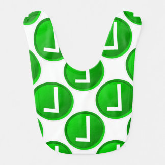 Símbolo verde de la marca de verificación babero para bebé