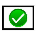 Símbolo verde de la marca de verificación postal
