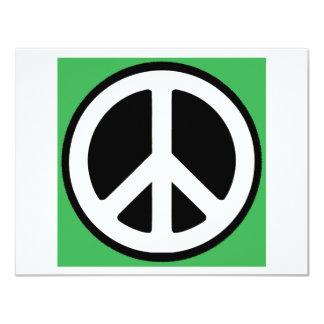 """¡Símbolo verde de la paz! Invitación 4.25"""" X 5.5"""""""