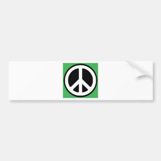 ¡Símbolo verde de la paz! Pegatina Para Auto