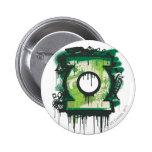 Símbolo verde de la pintada de la linterna