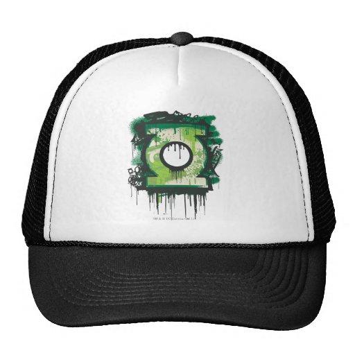 Símbolo verde de la pintada de la linterna gorro