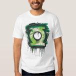 Símbolo verde de la pintada de la linterna playeras