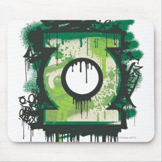 Símbolo verde de la pintada de la linterna tapete de ratón