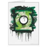 Símbolo verde de la pintada de la linterna felicitaciones