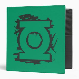 """Símbolo verde del marcador de la linterna carpeta 1 1/2"""""""