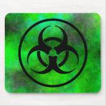 Símbolo verde Mousepad del Biohazard de la niebla Alfombrilla De Ratón