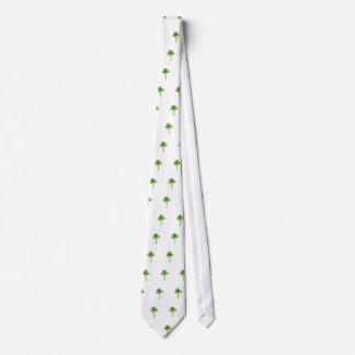 Símbolo verde radiactivo corbata personalizada