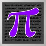 Símbolo violeta de la púrpura pi poster
