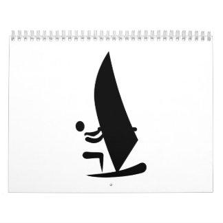 Símbolo Windsurfing Calendarios De Pared
