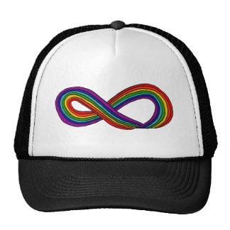 Símbolo XY del infinito del arco iris Gorros Bordados