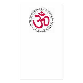 Símbolo y lema de OM Tarjetas De Negocios