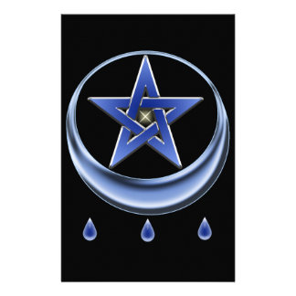 Símbolo y pentagram de la bendición papeleria