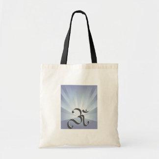 Símbolo y rayos - bolso de OM Bolsa Tela Barata